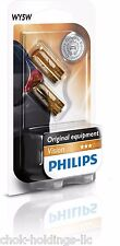 Philips 12396NAB2 Light Bulbs Glass Base WY5W Blister Pack (Pair)