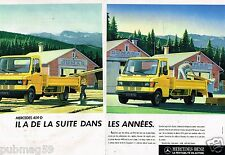Publicité Advertising 1987 (2 pages) Fourgon utilitaire Mercedes Benz 409 D