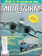 Air Combat Mar.1979 Swedish Air Force A-10 Camouflage F-18 Hornet XF-91 Phoenix