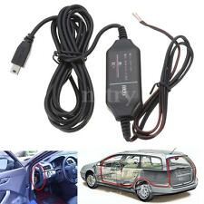 Mini USB 12V to 5V Hard Wire Power Adapter Cable For Car DVR Dash Camera Cam New
