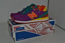 New Balance WL574PY Safari Pack Purple Orange Yellow Women Shoes – Size 6