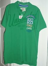 NWT mens ECKO UNLIMITED green RUGBY POLO short sleeved SHIRT size SMALL (s)