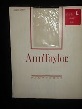 Ann Taylor Pantyhose Nylons Opaque Lycra Size Large Ivory