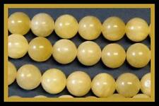 10mm Aragonite Round Beads (40+/- per strand) Great Yellow Color!