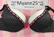 VICTORIAS SECRET ADDS-2-CUPS BOMBSHELL PLUNGE BRA 32D VICTORIA'S NWT $58 (D883)