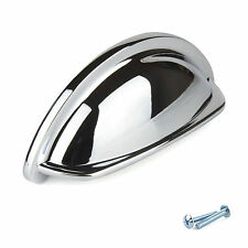 Chrome Cup Kitchen Cabinet Door Handles Cupboard Drawer Bedroom Furniture Knobs.