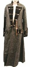 Heavy Gothic Raven Brocade Pirate Jacket With Chain Compass Ra6cg M