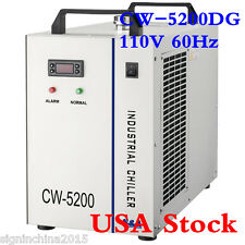 110V 60Hz CW-5200DG Industrial Water Chiller for One 130W/150W CO2 Glass Tube