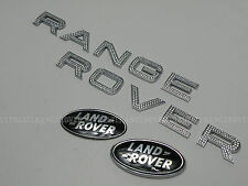 RANGE ROVER VOGUE CHROME DIAMANTE SUPERCHARGED FRONT BACK GRILL TAILGATE BADGE