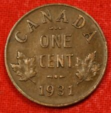 1931 CANADA SMALL CENT COLLECTOR COIN CHECK OUT STORE CASC144