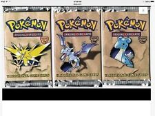 Pokemon fossil 3 factory sealed booster packs unlimited mint sealed packs wotc