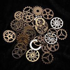 Lots 35x DIY Pendentif Roue Bronzé Engrenage Breloque Collier Fabrication Bijoux