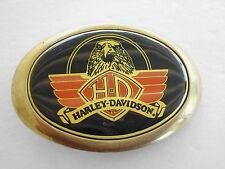 HARLEY DAVIDSON MOTOTCYCLE BELT BUCKLE EAGLE 1983 SOLID BRASS BARON GOLD TONE HD