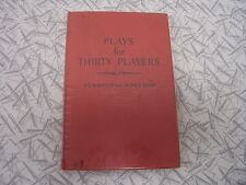 Six One-Act Plays for 30 Players 1960 English Primary School Drama Comedies