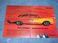 """1995 BFgoodrich 2pg Vintage Ad """"Every Old Flame Should Look This Good"""" '57 Chevy"""