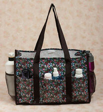 Waterproof Oil Cloth Canvas Organizing Utility Tote bag Travel Bag Beach Gym