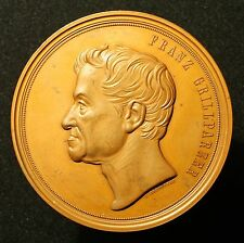 Große Bronzemedaille 1871, v. Radnitzky, 80. Geburtstag Franz Grillparzer