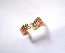 UNISEX 2.5 INCH MAGNETIC THERAPY ADJUSTABLE RING: Copper V; Helps with Pain!