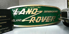 Land Rover Defender Brass Bronze Grill Tub Heritage Front Panel Badge Birmingham