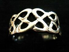 925 solid sterling Silver Chunky Celtic Knot Openwork Filigree Band Thumb Ring