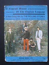ROLLING STONES  -SONGBOOK,' A FLAGRANT MISUSE OF THE ENGLISH LANGUAGE