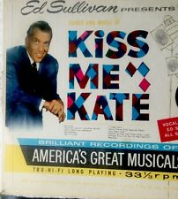 Ed Sullivan presents Songs And Music Of Kiss Me Kate  33 1/3 LP RECORD SOUNDTRK