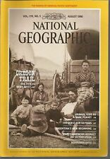 National Geographic August 1986 Oregon Trail/Uranus/Ulysses/Argentina/Ants