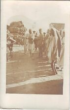 Libya Tripoli - Italy Soldiers and Natives old unused real photo sepia postcard