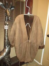 VINTAGE DONNA KARAN BROWN GENUINE SHEARLING COAT, S M L, LQQK!!