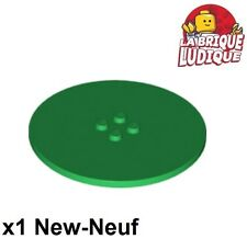 Lego - 1x Tile Round plaque ronde rond lisse 8x8 vert/green 6177 NEUF