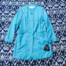 NWT Cole Haan Collection Turquoise Button Up Jacket Women's Size 6