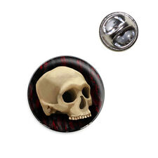 Gothic Human Skull Lapel Hat Tie Pin Tack