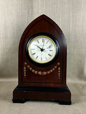 Mantle Clock Large Wooden Gothic Victorian Antique Style Lanesborough Hotel VTG