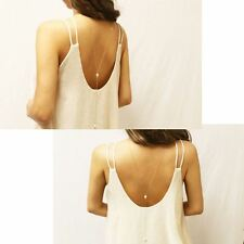 Chic Fashion Front or Back Drop Y Necklace Pearl Beads Drop Golden Tone Lariat