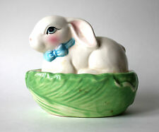 Sweet Little Vintage Bunny Dish Candy Dish or Pin Dish Rabbit Animal Figurine