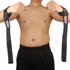 2 pcs Weight Lifting Barbell Resilient Hand Wrist Strap Gym Strap Body Building