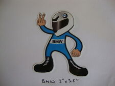 "2 BMW 2 FINGERED SALUTE STICKERS 3.5""x 3"" MOTORBIKE HELMET IOM TT ROCKERS"