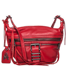 $235 ASH Maze Crossbody Handbag Red Nappa Leather Lambskin in RED NWT
