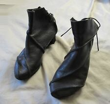 TRIPPEN black leather wedge shoes 38 7