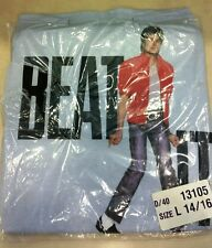 NOS vintage 80s MICHAEL JACKSON BEAT IT CONCERT Sleeveless T-Shirt Youth L