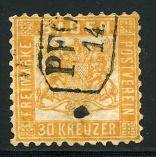 GERMANY STATES BADEN SCOTT# 25 MICHEL# 22 USED BOXED CANCEL AS SHOWN