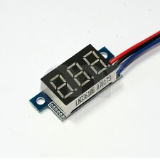 Mini DC 0-30V 3-Wire Voltmeter White LED Display Volt Meter Digital Panel Meter
