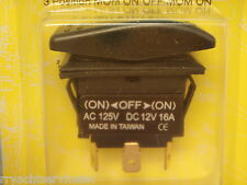 ROCKER SWITCH SEACHOICE 10921 NON-LIGHTED MOMENTARY ON/OFF/MOMENTARY ON BLACK