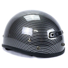 Vega XTS Carbon Fiber Graphic Half Helmet Medium Harley Davidson Crusier Chopper