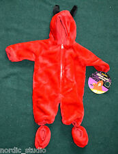 Toddler boys girls Size 0-6 months Little Red Devil Halloween Costume, fur, nwt