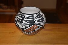 ROXANNE VICTORINO HANDCOILED ACOMA BOWL! BEAUTIFUL PAINTING