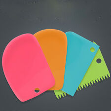 New 3Ps Plastic Pastry Bake Scraper Blade Cake Cookie Cutter Kitchen Tool Supply