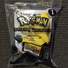 McDonalds POKEMON Happy Meal PIKACHU #1 TOY 2015 NIP with Trading Card SEALED