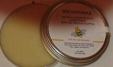BEESWAX 100% Natural Leather Polish And Conditioner With Eucalyptus & Tea Tree