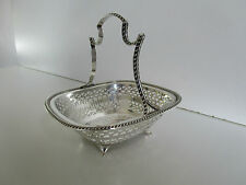 Sterling Silver Basket..Hallmarked Sheffield 1929..Martin Hall & Co Ltd..